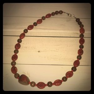 Jewelry - Custom Wood and Rock Necklace